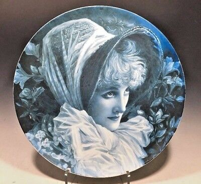 "Howell & James Special Make Hand Painted Plate Lady Di Portrait Signed - 14""D"