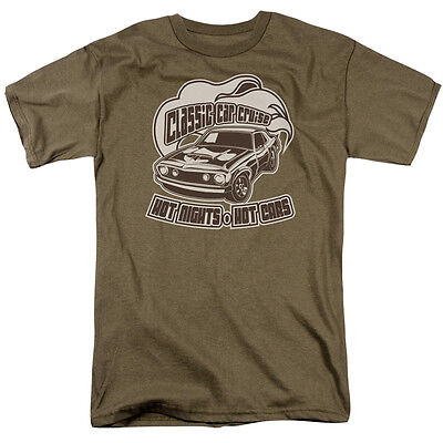 CLASSIC CAR CRUISE, HOT NIGHTS HOT CARS Adult T-Shirt All Sizes