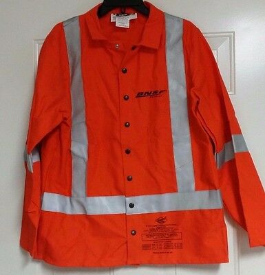 GuardLine Neon Orange Jacket Shirt Flame Resistant Fabric! In Medium,LargeOR 3xL