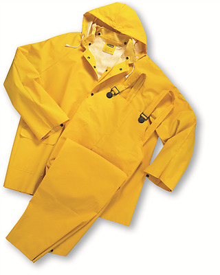 3 Piece Heavy Duty Yellow Rainsuit Rain Suit 35Mm Size 7Xl New In Bag