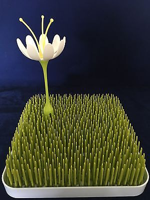 Boon Grass Bottle Drying Rack With Flower