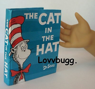 "Mini Cat in the Hat Dr. Seuss Book for 18"" American Girl Doll Widest Selection"