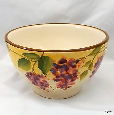"Wisteria Dinnerware by Heritage Mint Cereal Bowl 5-1/4"" Pink Purple"