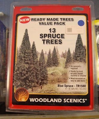 NEW Woodland Scenics Blue Spruce 4-6  (13) TR1588