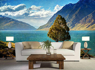 Blue Lake New Zealand Full Wall Mural Photo Wallpaper Print Kids Home 3D Decal