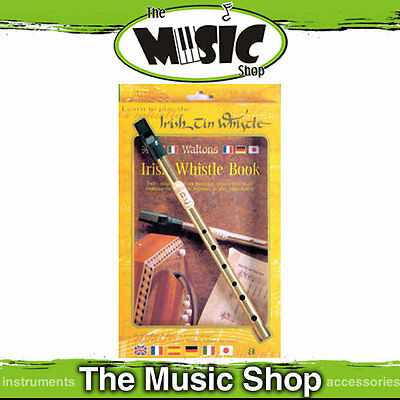 Waltons D Tin Whistle with Learn to Play the Irish Tin Whistle Book - 27 Songs