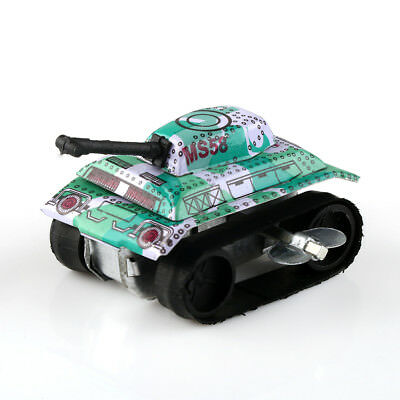 Wind Up Clockwork Military Army Tank Model Baby Gift Tin Toy Party Favor Vintage