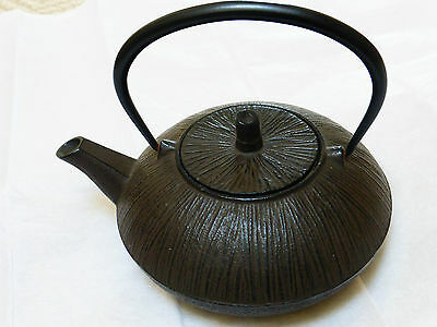 Japanese Cast Iron Teapot, Signed