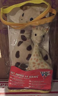 New Sophie Giraffe Gift Set Plush Toy Natural Rubber Teether Noise Baby Vulli