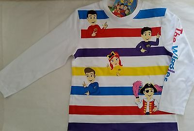 THE WIGGLES Unisex Boy Girl Licensed long sleeve tee t shirt top NEW sz 2-5