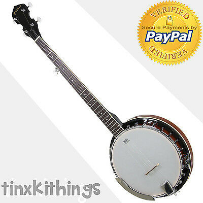 Full Size Banjo 5 String Jameson Guitar Closed Solid Back Bracket Geared Tuner