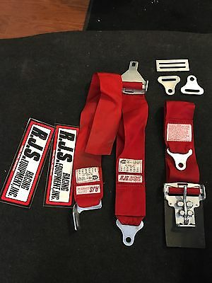 RJS 5 Point Safety Harness Red Dated MAY 1994 Very nice condition!