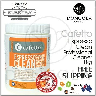 ELEKTRA 1kg Espresso Coffee Machine Cleaner Profesional Cleaning by Cafetto