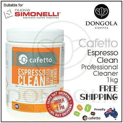 SIMONELLI 1kg Espresso Coffee Machine Cleaner Profesional Cleaning by Cafetto