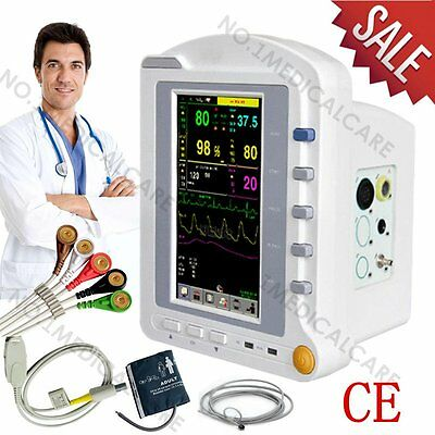 """Touch ICU Patient Monitor, 7"""" LCD+6 Parameters, Vital Signs Machine, CE"""