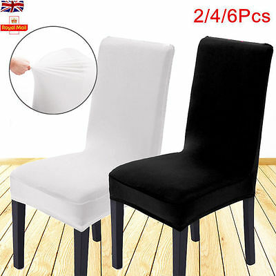 8pcs Dining Chair Covers Chair Protector Slipcover Fancy Decor Stretch Spandex