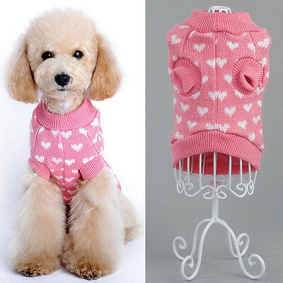US STOCK Pet Dog Warm Clothes Puppy Winter Sweater Apparel Jacket Coat Costume