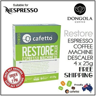 NESPRESSO Restore Descaler Espresso Coffee Machine Eco Descaling Sachets Cafetto
