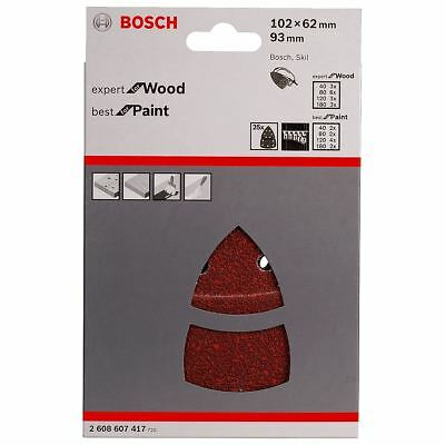 Bosch 25 Mixed Sanding Sheets Set for PSM 160 A/PSM 80/PRIO - 2608607417