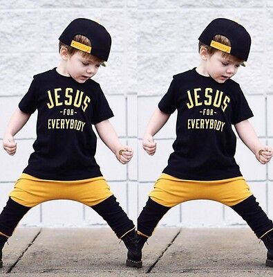 USA Seller Toddler Kids Boy Summer Tops T-shirt Pants Outfits 2Pcs Set Clothes