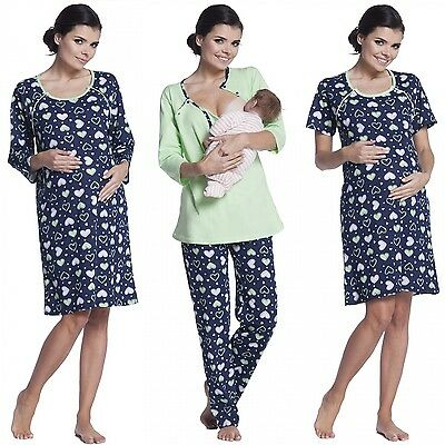 Zeta Ville - Women's Maternity Nursing Pyjamas / Nightdress - MIX & MATCH - 568c