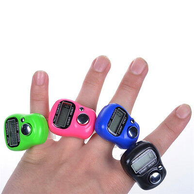 NEW Mini Stitch Marker Row Finger Counter LCD Electronic Digital Tally Counter