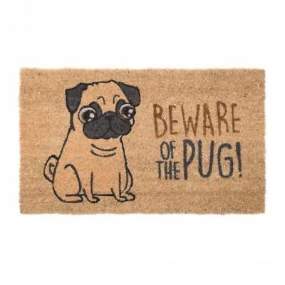 Felpudo Fibra de Coco Beware of the Pug