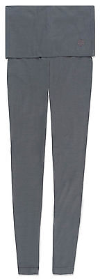 Gossypium Yoga Womesn Fold over Leggings Grey tights Organic UK8 RRP£55 *BNWT*
