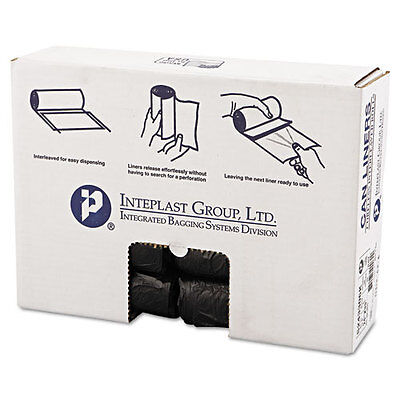 High-Density Can Liner, 24 x 33, 16gal, 6mic, Black, 50/Roll, 20 Rolls/Carton