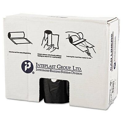 Commercial Can Liners, 60gal, 38 x 60, 22 Microns, Black, 150/Carton