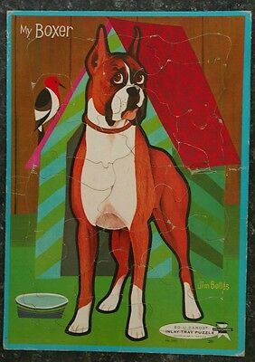 """MY BOXER"" ED-U-CARDS® INLAY-TRAY PUZZLE No. 2901 BY JIM BOWLES"