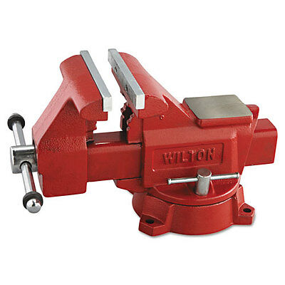 """Vise, Cast Iron, Utility, 5 1/2"""" Jaw Opening, 6 1/2"""" Jaw Width, 41.85 Pounds"""