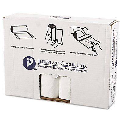 High-Density Can Liner, 33 x 39, 33gal, 14mic, Clear, 25/Roll, 10 Rolls/Carton