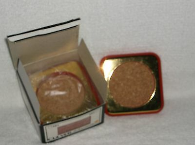 Culver Glass Company 084 Set of Four Red and Gold with Cork Coasters Mint in Box