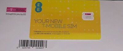 UK T-MOBILE Nano SIM. TOP UP & text '6monthweb' to 441 to BUY UNLIMITED Internet