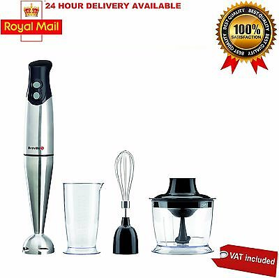 Breville VHB014 400W 2 Speed Settings 3-in-1 Hand Blender in Stainless Steel NEW