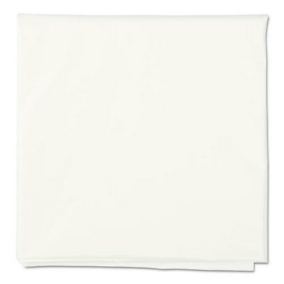 "Octy-Round Plastic Tablecover, 84"" diameter, White, 12/Carton"