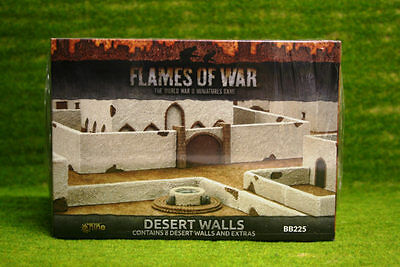 Flames of War Desert Walls painted tabletop terrain 15mm BB225