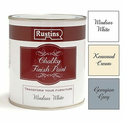 Shabby Chic Rustins Chalk Paint Chalky Finish Paint 500ml & 250ml