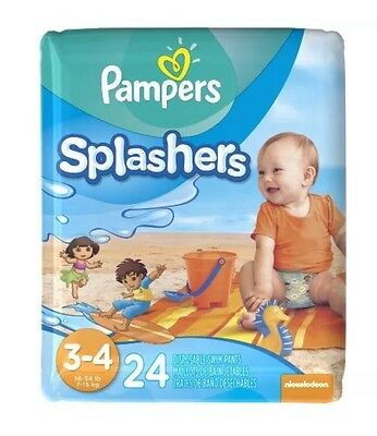 Pampers Splashers Diapers - Size 3-4 Count 24