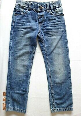 Kids Boys Blue Medium Denim Straight Leg Jeans 1 1/2-2-3-4-5-6-7 Years X-Store