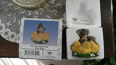 "Charming Tails ""shhh Don't Make A Peep"" Mouse Chicks Easter Item 88/702"