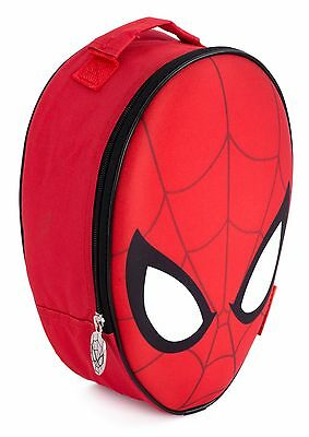 Kids Childrens Spiderman 3D Head Shaped Lunch Bag School Insulated Cool Bag
