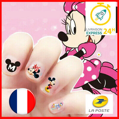 💅 Disney Mickey Mouse Minnie - Manucure Nail art Ongle - Sticker Autocollant