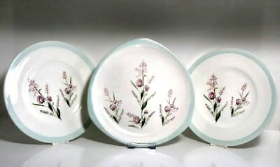 FOLEY Springtime Vintage 1950s Cake Plates Set of 3 Collectable China So pretty!