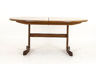 B576 Mid Century Modern Teak Extending Oval Dining Table by G Plan