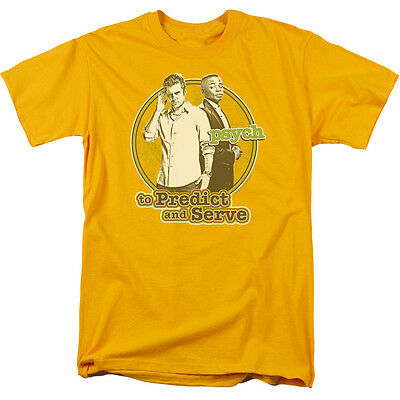 Psych TV Show Character Pictures SQUARED Adult Heather T-Shirt All Sizes