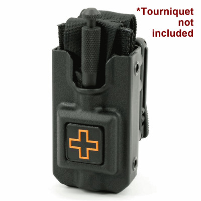 Eleven 10 RIGID Tourniquet Case Black for SOF®TT w/ Molle Clip - 3011M-BLK