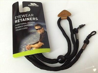 Trespass Reading Sunglasses Black Neck Cord Glasses Retainer Strap
