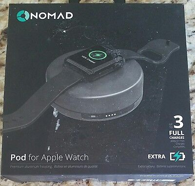 NOMAD Pod for Apple Watch Space Gray Portable Charger POD-APPLE-SG-001 XLNT FB